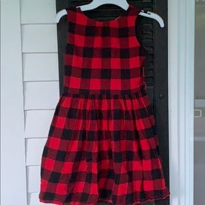 Carter's red and black buffalo plaid dress